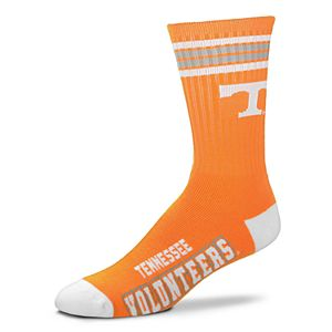 Men's For Bare Feet Tennessee Volunteers Deuce Striped Crew Socks