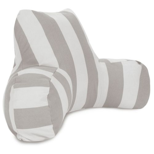 Majestic Home Goods Vertical Stripe Indoor / Outdoor Reading Pillow