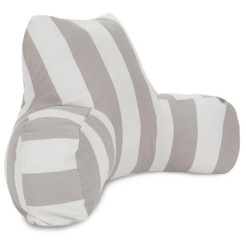 Majestic Home Goods Vertical Stripe Indoor / Outdoor Reading Pillow