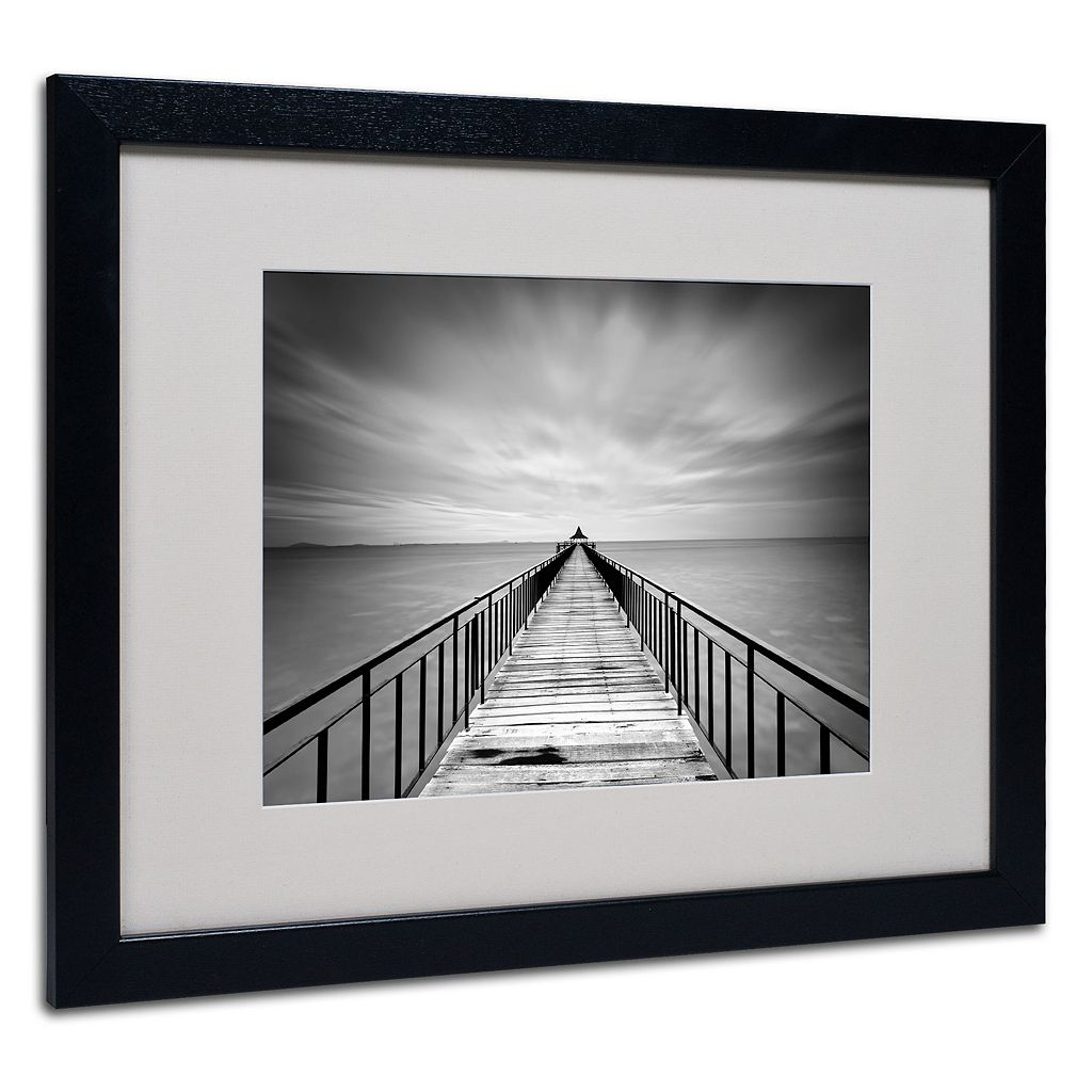 Trademark Fine Art Withstand Black Framed Wall Art