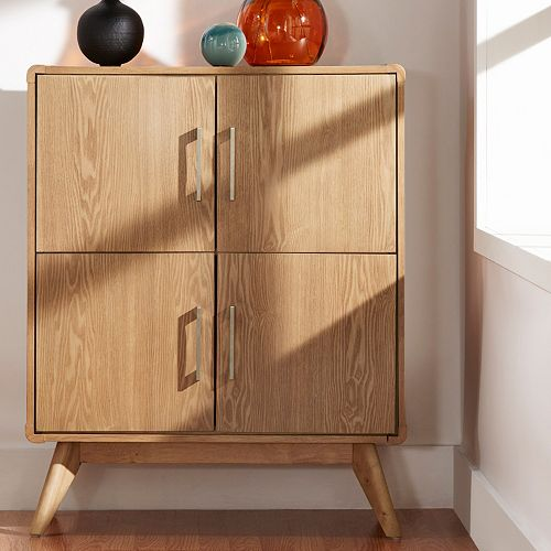 HomeVance Skagen Natural Finish Accent Cabinet