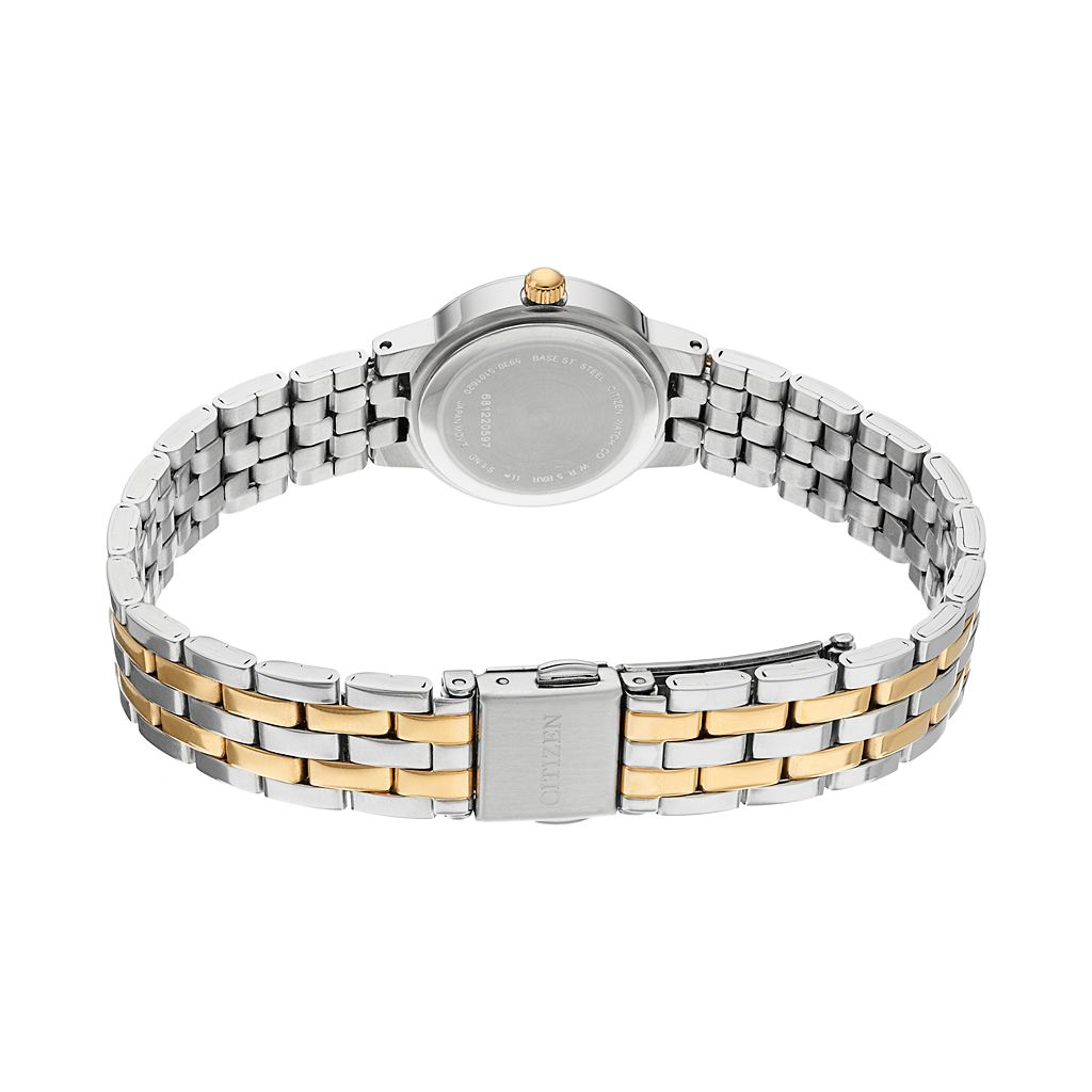 Citizen Women's Crystal Two Tone Stainless Steel Watch - EJ6104-51A