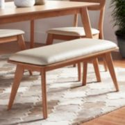 HomeVance Skagen Natural Finish Upholstered Bench