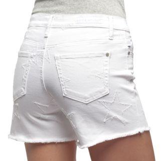 Women's Rock & Republic® Hula White Star Shorts