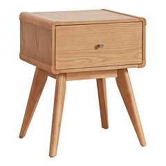 HomeVance Skagen Natural Finish Tapered Nightstand