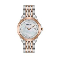 Bulova Women's Diamond Two Tone Stainless Steel Watch