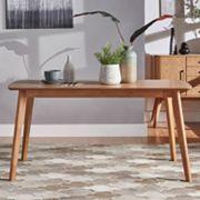 HomeVance Skagen Natural Finish Dining Table