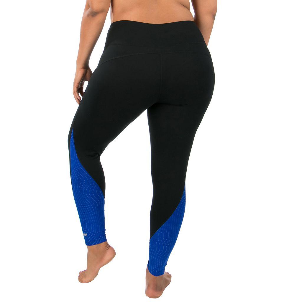 Plus Size Marika Jordan Glare Colorblock Leggings
