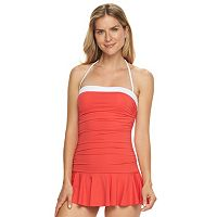 Women's Chaps Body Sculptor & Tummy Slimmer Bandeau Swimdress
