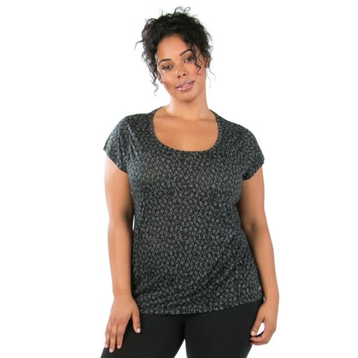 Plus Size Marika Giselle Geometric Burnout Tee