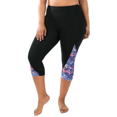 62d7b68d4b8121 Plus Size Marika High Rise Capri Leggings