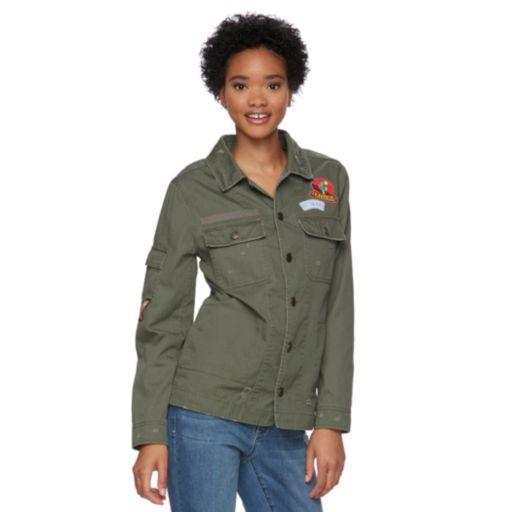 Juniors' Mudd® Patched Shirt Jacket