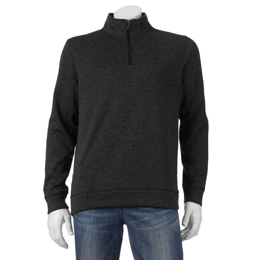 Big & Tall Croft & Barrow® Marled Quarter-Zip Sweater Fleece