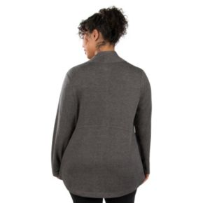 Plus Size Marika Kate Asymmetrical French Terry Jacket