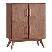 HomeVance Skagen Walnut Finish Accent Cabinet