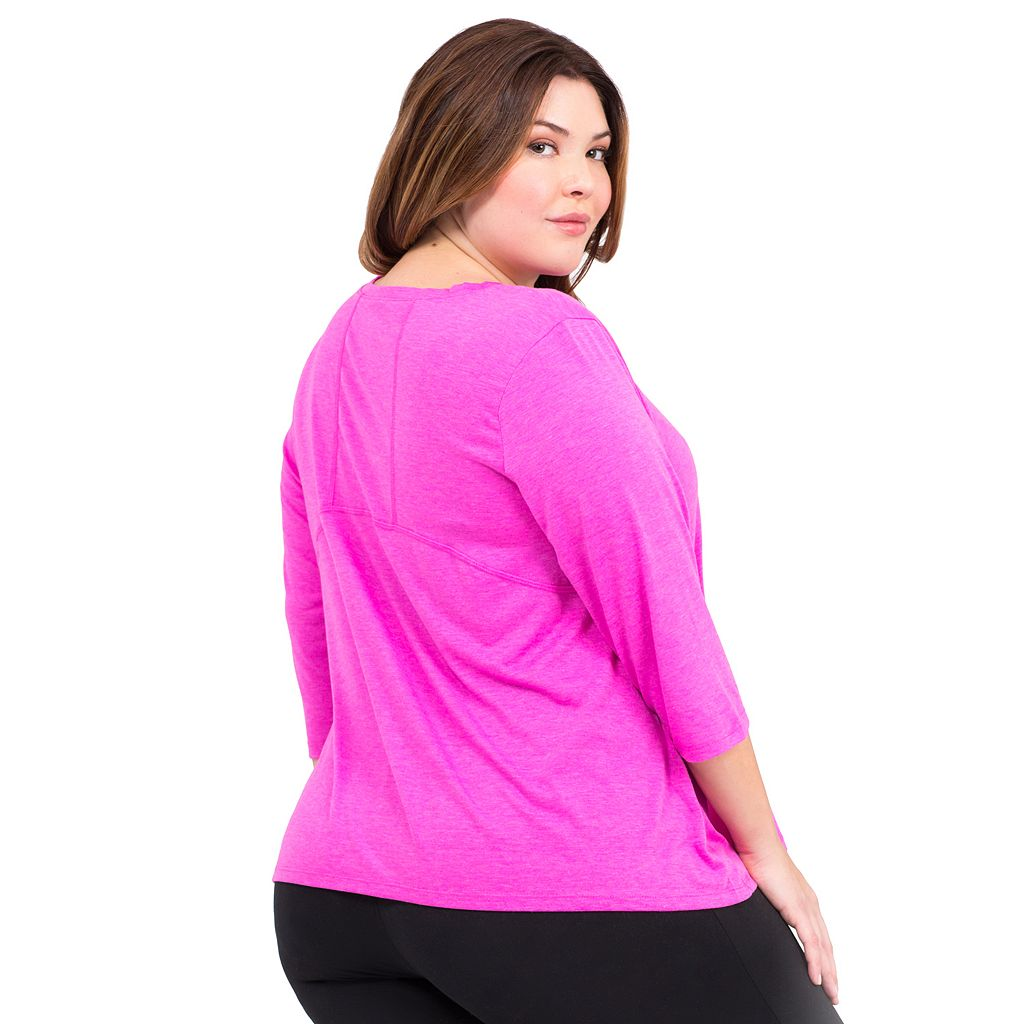 Plus Size Marika Burnout V-Neck Tee