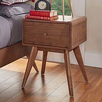 HomeVance Skagen Walnut Finish Tapered Nightstand