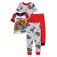 Toddler Boy Blaze and the Monster Machines 4-pc. Pajama Set