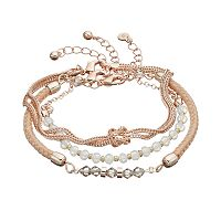 LC Lauren Conrad Beaded, Woven & Knotted Bracelet Set