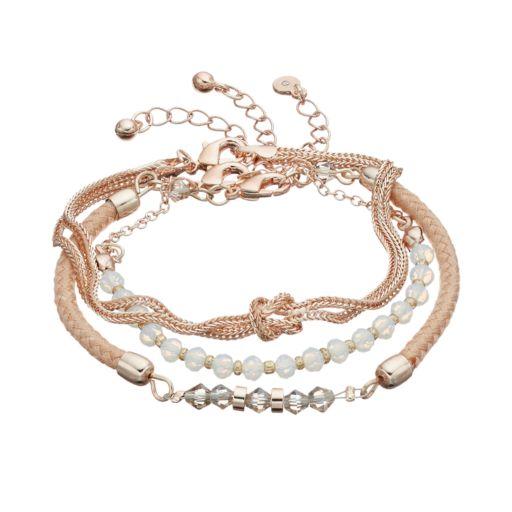 LC Lauren Conrad Beaded, Woven & Knotted Bracelet Set