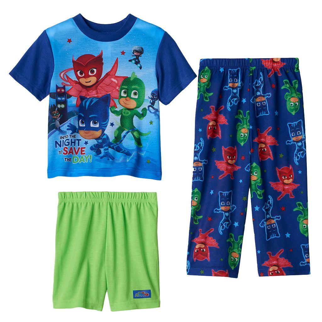 Toddler Boy PJ Masks Gekko, Catboy & Owlette 3-pc. Pajama Set