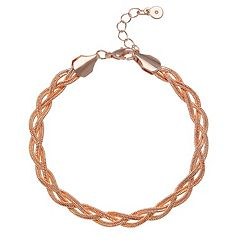 LC Lauren Conrad Braided Chain Bracelet