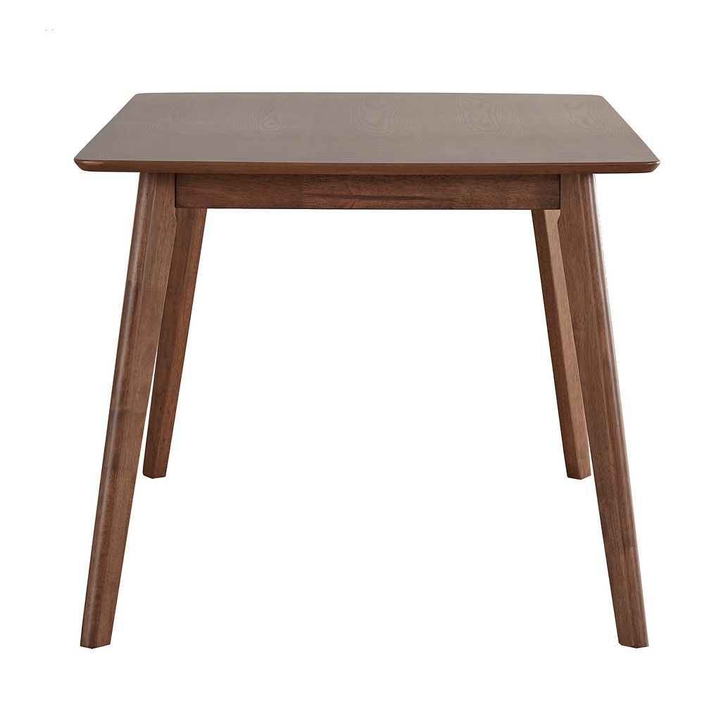 HomeVance Skagen Walnut Finish Dining Table & Chair 7-piece Set