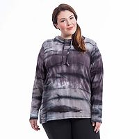 Plus Size Balance Collection Tie-Dye Cowlneck Hoodie