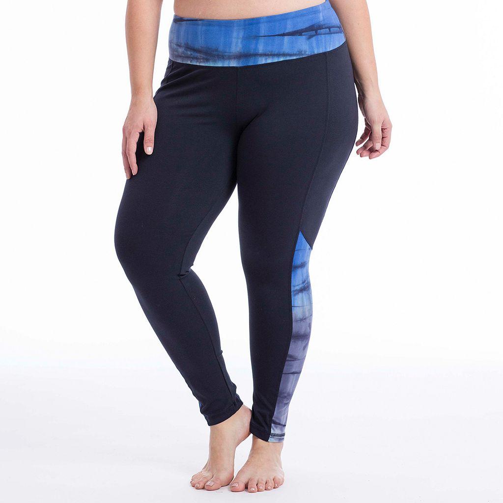Plus Size Balance Collection Skyward Tie Dye Leggings