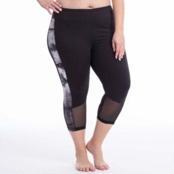 Plus Size Balance Collection Vicki Tie Dye Capri Leggings