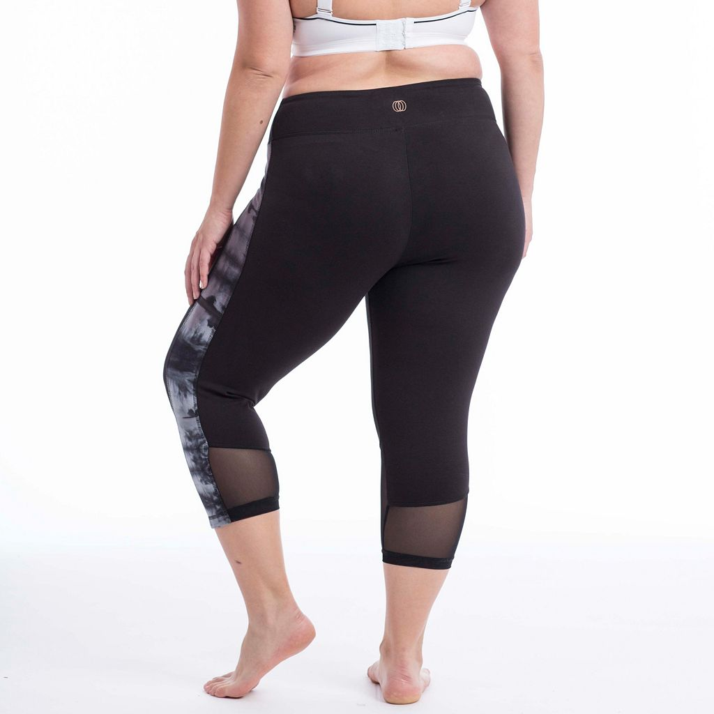 Plus Size Balance Collection Vicki Tie Dye Capri Leggings