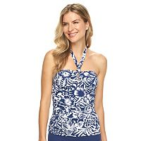 Women's Chaps Floral Halterkini Top