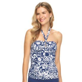 Women's Chaps Floral Halterkini Top