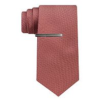 Men's Van Heusen Patterned Skinny Tie With Tie Bar