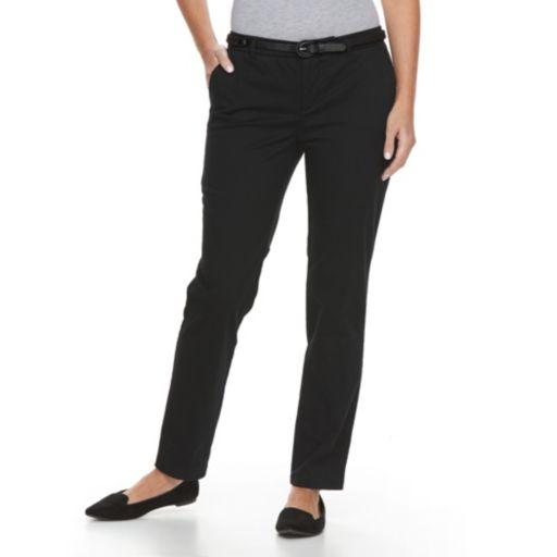 Petite Croft & Barrow® Tapered Chino Pants