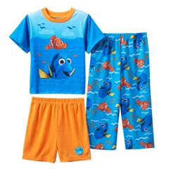 Disney Pixar Finding Dory Nemo Toddler Boy Waves 3 Pc Pajama Set