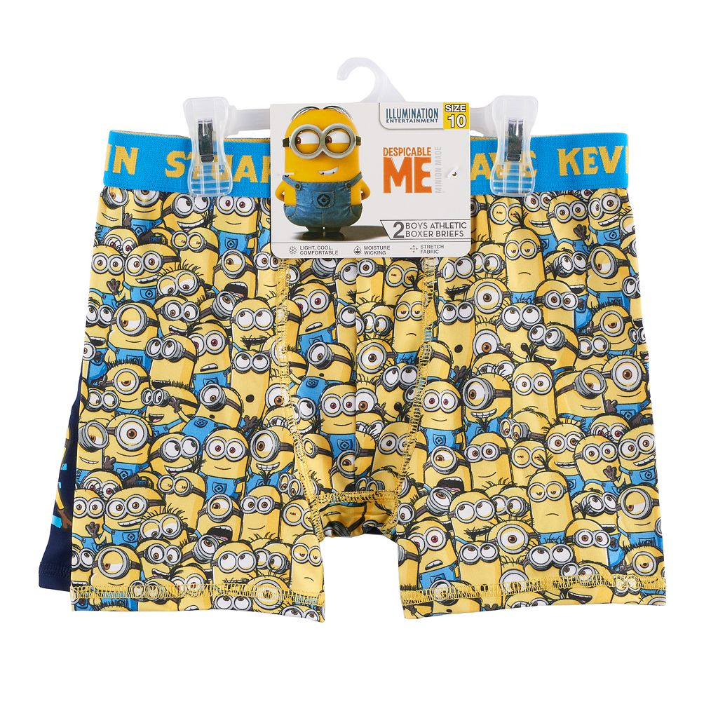 Boys 6-10 Despicable Me Minion 2-Pack Boxer Briefs