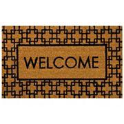 Mohawk® Home Century Fret ''Welcome'' Coir Doormat - 18'' x 30''