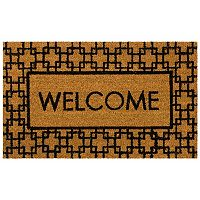 Mohawk® Home Century Fret ''Welcome'' Coir Doormat - 18'' x 30''
