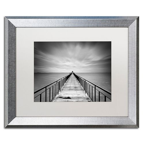 Trademark Fine Art Withstand Silver Finish Framed Wall Art