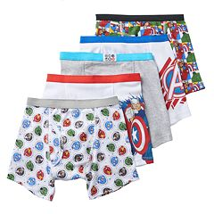Boys 4-8 Marvel Avengers 5-Pack Boxer Briefs