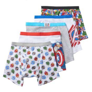 Boys 4-8 Marvel Avengers 5-Pack Boxer Briefs