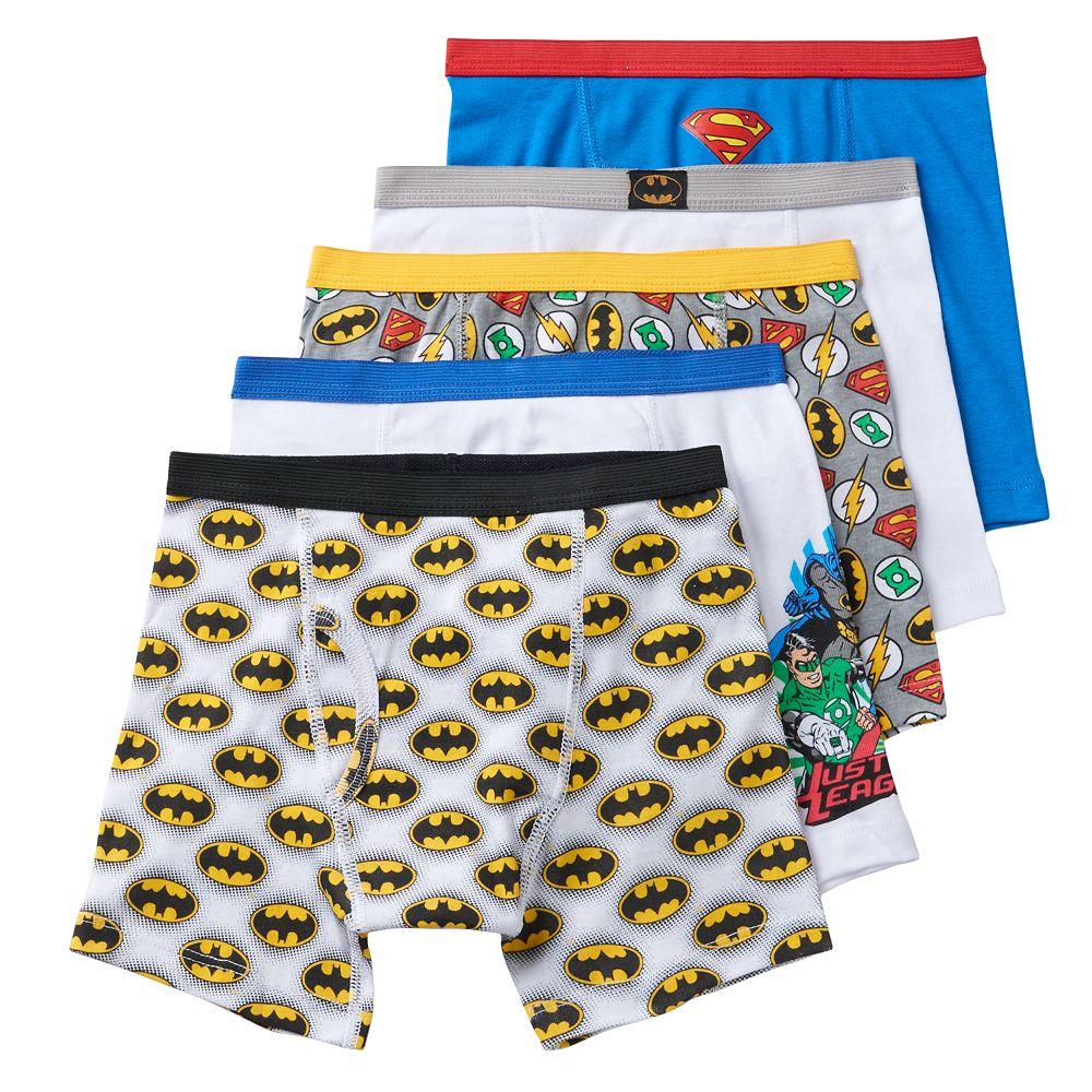 70954a03b Boys 4-8 Justice League 5-Pack Boxer Briefs