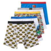 Boys 4-8 Justice League 5-Pack Boxer Briefs