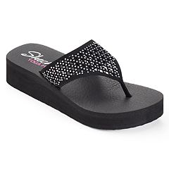 Skechers Vinyasa Women's Perforated Yoga Mat Wedge Flip-Flops