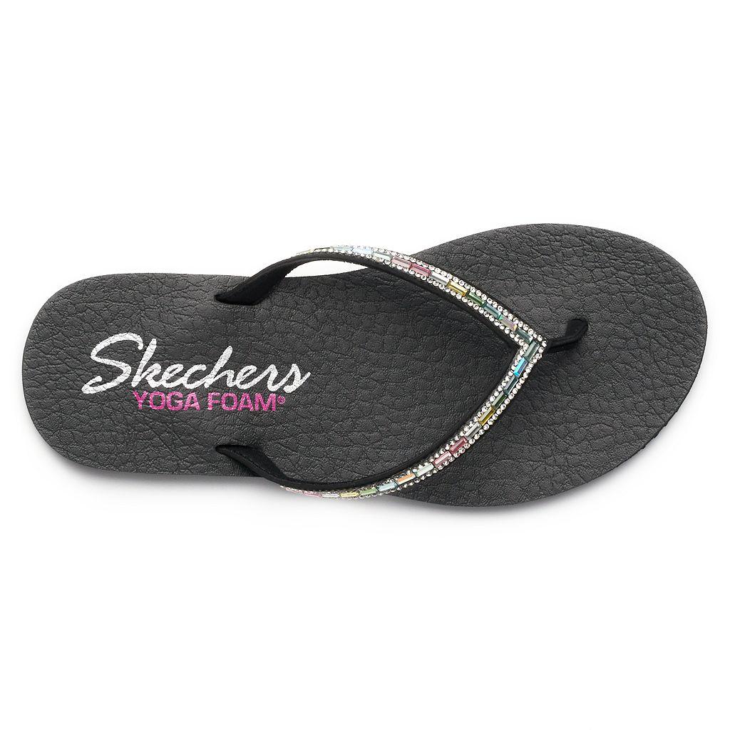 Skechers Meditation Desert Women's Rhinestone Yoga Mat Wedge Flip-Flops