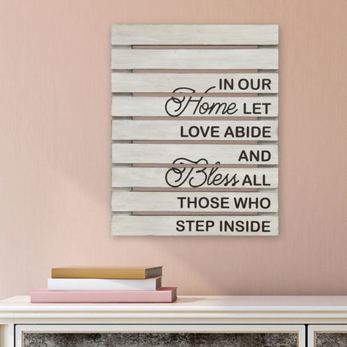 """Stratton Home Decor """"In Our Home"""" Wall Art"""