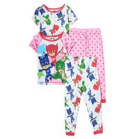 Toddler Girl PJ Masks Gekko, Catboy & Owlette 4-pc. Pajama Set