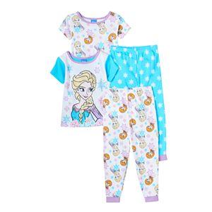 Disney's Frozen Elsa & Anna Toddler Girl 4-pc. Pajama Set