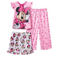Disney's Minnie Mouse Toddler Girl Polka-Dot Flutter 3-pc. Pajama Set